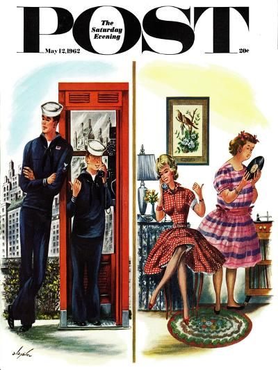 """""""She Has a Great Personality,"""" Saturday Evening Post Cover, May 12, 1962-Constantin Alajalov-Giclee Print"""