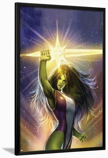 She-Hulk: Cosmic Collision No.1 Cover: She-Hulk-Stjepan Sejic-Lamina Framed Poster