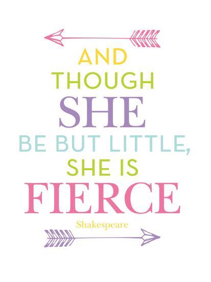She Is Fierce Multi-Amy Brinkman-Art Print
