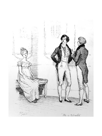 She Is Tolerable', Illustration from 'Pride and Prejudice' by Jane Austen, Edition Published in…-Hugh Thomson-Giclee Print