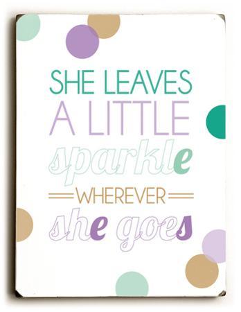 She leaves a little sparkle-color
