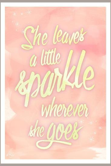 She leaves a sparkle 2-Kimberly Glover-Premium Giclee Print