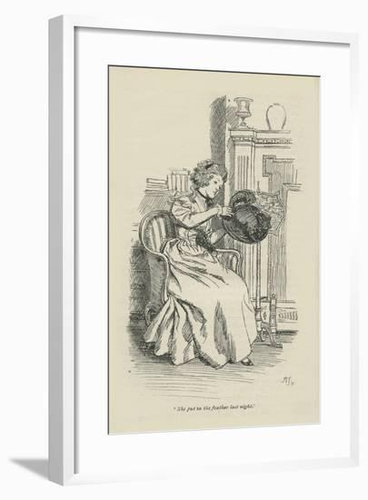She put in the feather last night, 1896-Hugh Thomson-Framed Giclee Print