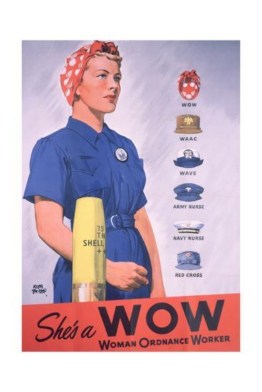 She's a Wow Poster-Adolph Treidler-Giclee Print