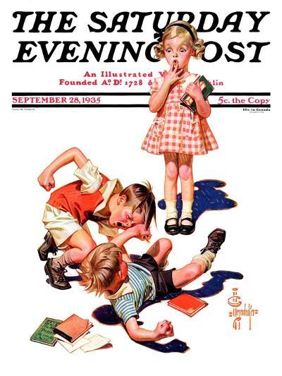 """""""She's My Girl!,"""" Saturday Evening Post Cover, September 28, 1935-Joseph Christian Leyendecker-Giclee Print"""