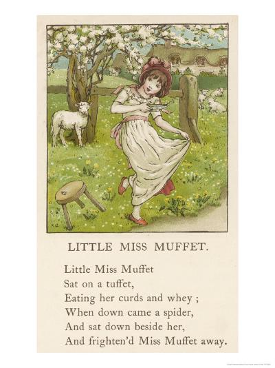 She Upsets Her Stool When She Finds a, Really Rather Small, Spider Sharing It with Her-Kate Greenaway-Giclee Print