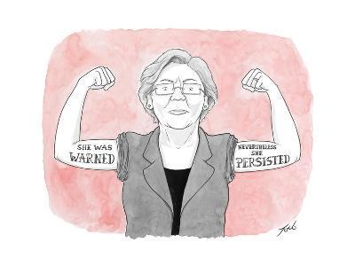 She was warned. Nevertheless she persisted. - Cartoon-Tom Toro-Premium Giclee Print