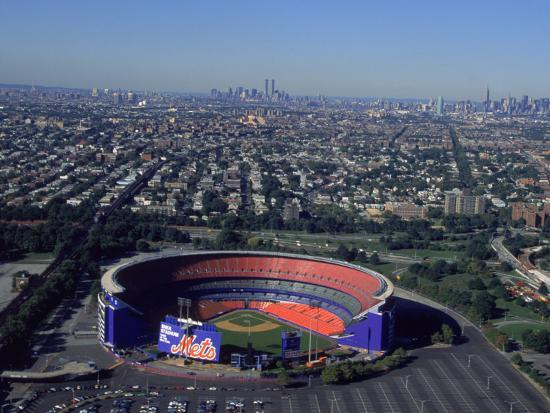 Shea Stadium, Aerial View, Ny Mets-Bruce Clarke-Photographic Print