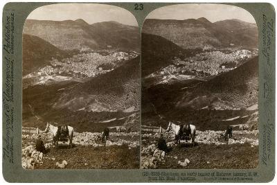 Shechem, South-West from Mount Ebal, Palestine, 1900s-Underwood & Underwood-Giclee Print