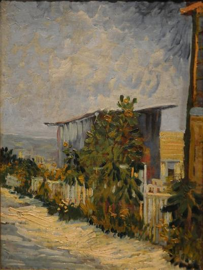 Shed at the Montmartre with Sunflower, 1887-Vincent van Gogh-Giclee Print