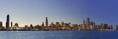 Shedd Acquarium and Chicago Skyline at Dusk, Chicago, Illinois, USA-Michele Falzone-Photographic Print