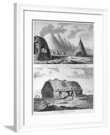 Sheelins in Jura, Paps and a Cottage of Islay, A Tour in Scotland, and Voyage to the Hebrides 1772-Thomas Pennant-Framed Giclee Print