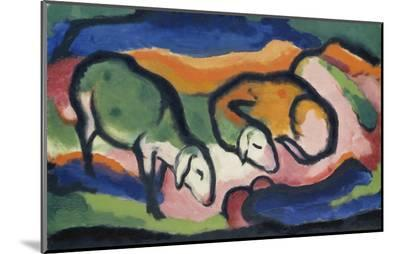 Sheep, 1912-Franz Marc-Mounted Print