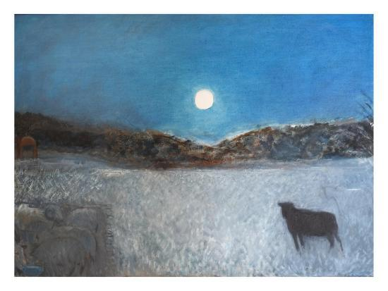 Sheep and Moon, 1997-Pamela Scott Wilkie-Giclee Print