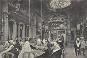 Sheep Being Slaughtered on the Gaming Tables at the Casino in Monte Carlo