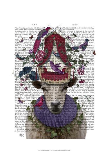 Sheep Birdkeeper-Fab Funky-Art Print