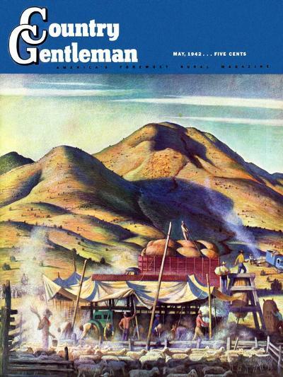 """Sheep Farm,"" Country Gentleman Cover, May 1, 1942-Jean L. Huens-Giclee Print"