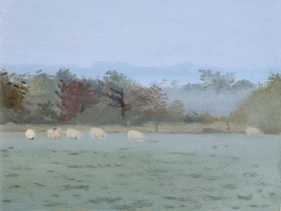 Sheep Grazing; Misty Morning, 1993-Gillian Furlong-Giclee Print