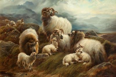 Sheep in a Landscape, 1894-Robert Watson-Giclee Print