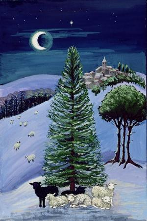 Sheep in a Winter Landscape-Margaret Loxton-Giclee Print