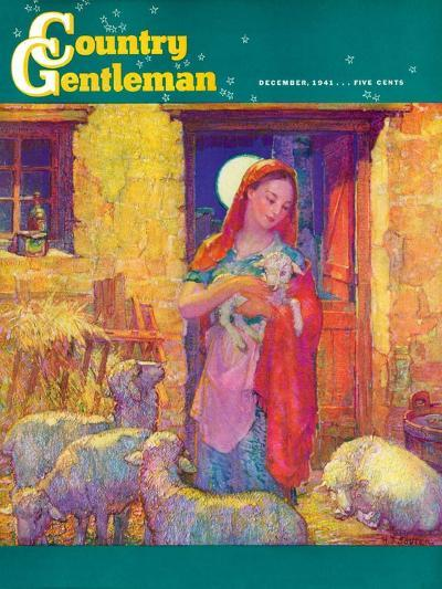 """Sheep in Jerusalem,"" Country Gentleman Cover, December 1, 1941-Henry Soulen-Giclee Print"
