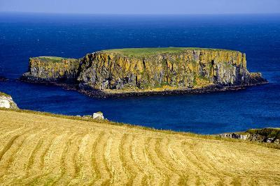 Sheep Island Near Carrick a Rede on the North Coast of Northern Ireland-Chris Hill-Photographic Print