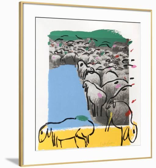 Sheep Portfolio 7-Menashe Kadishman-Framed Collectable Print