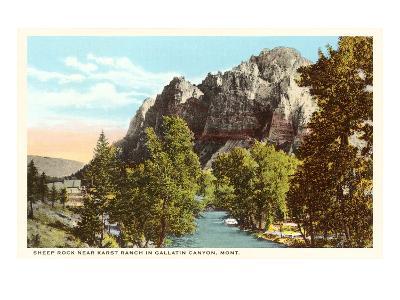 Sheep Rock, Gallatin Canyon, Montana--Art Print