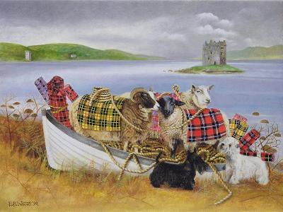 Sheep with Tartan, 1999-E.B. Watts-Giclee Print