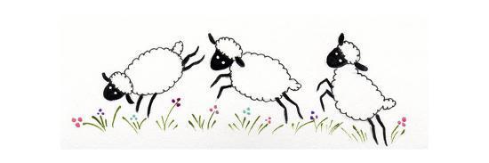 Sheep-Beverly Johnston-Giclee Print