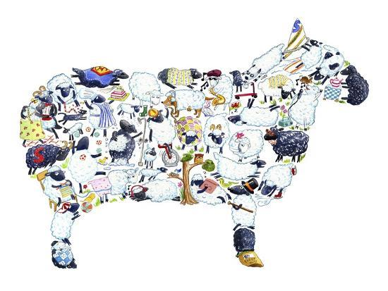 Sheep-Louise Tate-Giclee Print