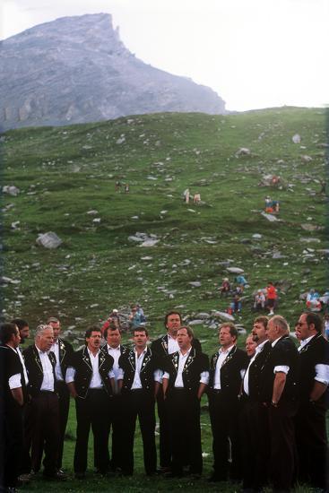 Sheepherders Festival, Gemmi, Switzerland--Photographic Print