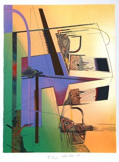Sheer Numbers-William Schwedler-Serigraph