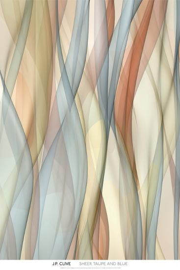 Sheer Taupe and Blue-J^P^ Clive-Art Print