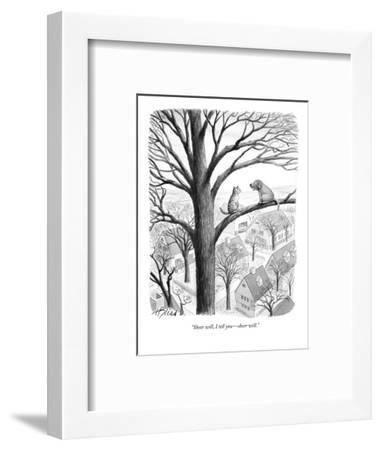 """Sheer will, I tell you?sheer will."" - New Yorker Cartoon-Harry Bliss-Framed Premium Giclee Print"