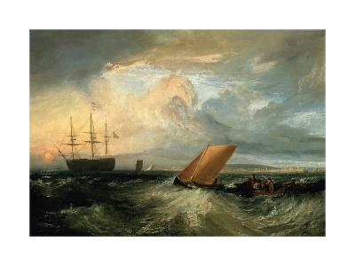 Sheerness as Seen from the Nore-J^ M^ W^ Turner-Giclee Print