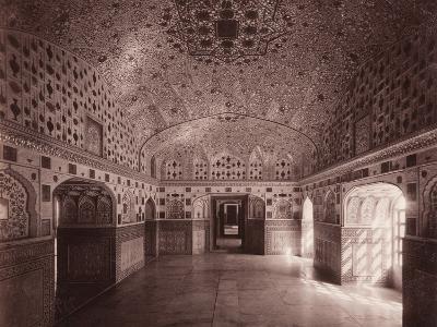 Sheesh Mahal, Amber Palace, Jeypore, C.1890--Photographic Print