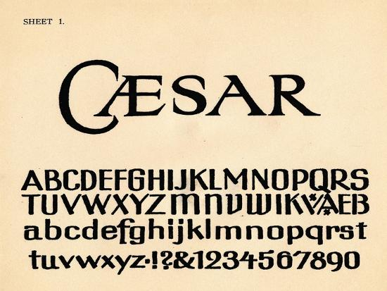 Sheet 1, from a portfolio of alphabets, 1929-Unknown-Giclee Print
