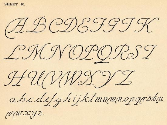 Sheet 10, from a portfolio of alphabets, 1929-Unknown-Giclee Print