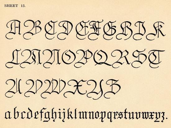 Sheet 15, from a portfolio of alphabets, 1929-Unknown-Giclee Print