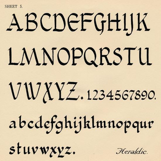 Sheet 5, from a portfolio of alphabets, 1929-Unknown-Giclee Print