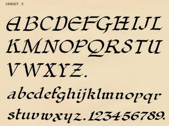 Sheet 7, from a portfolio of alphabets, 1929-Unknown-Giclee Print