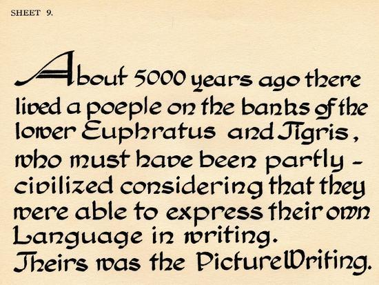 Sheet 9, from a portfolio of alphabets, 1929-Unknown-Giclee Print