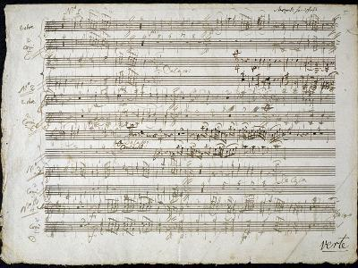 Sheet Music by Mozart: Six Contre Danses--Giclee Print