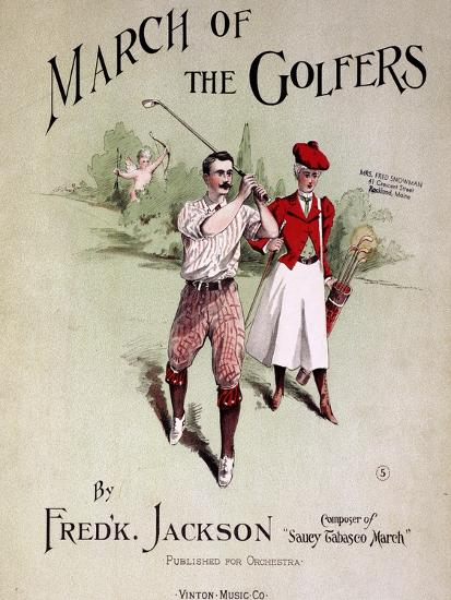 Sheet music cover, March Of The Golfers, 1903-Unknown-Giclee Print