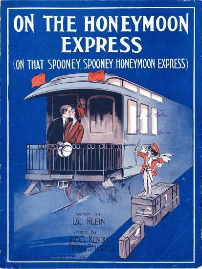 """Sheet Music Cover: """"On the Honeymoon Express"""" Music by J. Kendis and F. Sti--Art Print"""