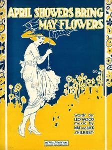 "Sheet Music Covers: ""April Showers Bring May Flowers"" Music by N. and J. Sh"