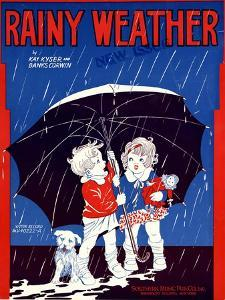 "Sheet Music Covers: ""Rainy Weather"" Music and Words by Kay Kyser and Banks Corwin, 1930"