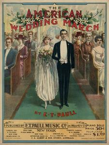 "Sheet Music Covers: ""The American Wedding March"" Composed by E. T. Paull, 1918"