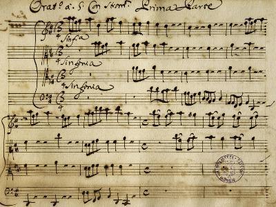 Sheet Music of the Oratorio of Saint John the Baptist-Alessandro Stradella-Giclee Print